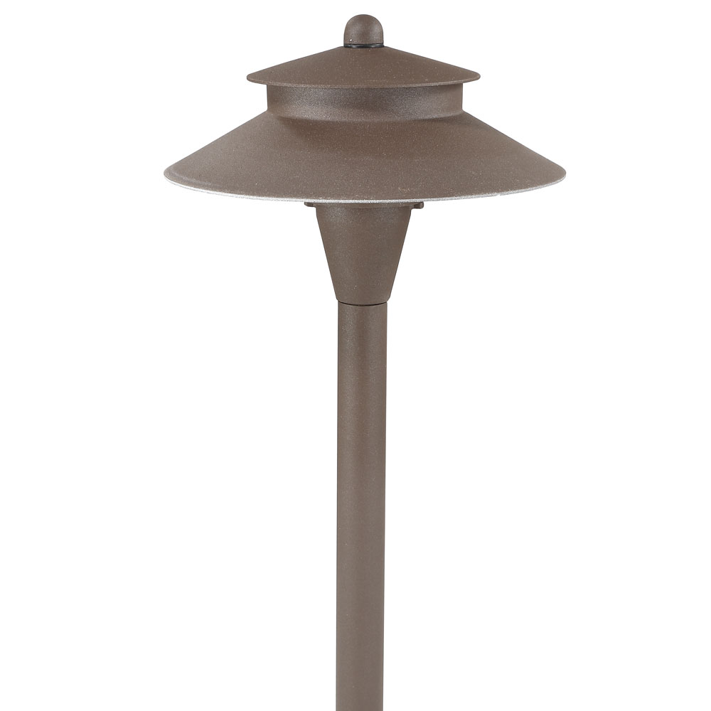 LED Two Layer Dome Landscape Path Light Bronze