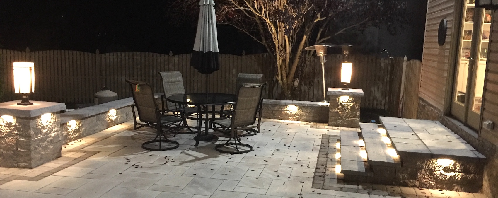 Led Landscape Lighting Nj Hardscape Lighting For Patios